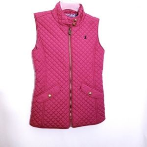 JOULES   Pink Quilted Jilly Gilet JUNIORS …